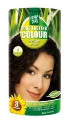 HennaPlus női tartós hajfesték, barna árnyalat, középbarna (4) (Long Lasting Colour, Medium Brown)