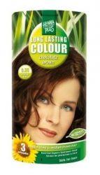 HennaPlus női tartós hajfesték, barna árnyalat, csokibarna (5.35) (Long Lasting Colour, Chocolate Brown)
