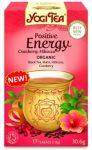 YOGI TEA - Yogi fűszeres tea, Pozitív energia áfonyával és hibiszkusszal 17 filter 30 g - Bio tea
