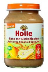 Holle Bio gyümölcsös bébiétel, finom körte tönkölybúzával bébiétel 190 g