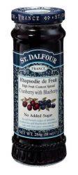 St. Dalfour lekvár francia recept szerint, vörös + kék áfonya 284 g