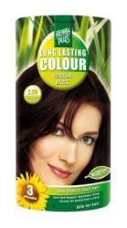 HennaPlus női tartós hajfesték, fekete árnyalat, rőtfekete (2.66) (Long Lasting Colour, Reddish Black)