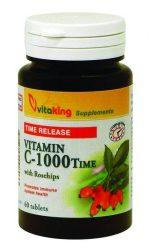 VitaKing C- vitamin C-1000 mg tabletta csipkebogyóval (VK 801) 100 db -- készlet erejéig, a termék lejárati ideje: 2019.08.22.