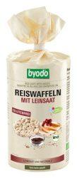 Byodo Bio rizsszelet, rizsszelet lenmaggal és tengeri sóval (gluténmentes) 100 g -- készlet erejéig, a termék lejárati ideje: 2017.05.21