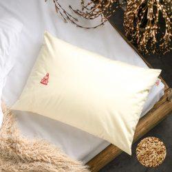 Prána párna Bio tönkölyhéj párna, 50x70 cm alvópárna nagy, 100% pamut belső huzattal (csak párna)