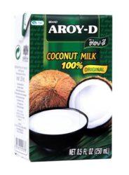 Aroy-D kókusztej 250 ml -- készlet erejéig, a termék lejárati ideje: 2018.04.01.