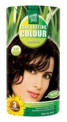 HennaPlus női tartós hajfesték, barna árnyalat, espresso (3.37) (Long Lasting Colour, Espresso)