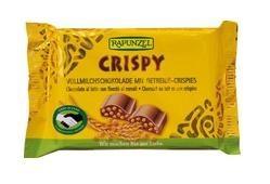 Rapunzel Bio csokoládé, Cristallino tejcsokoládé ropogós gabonás töltettel 100 g
