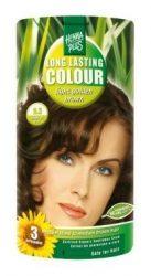 HennaPlus női tartós hajfesték, barna árnyalat, világos aranybarna (5.3) (Long Lasting Colour, Light Golden Brown)