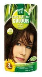HennaPlus női tartós hajfesték, barna árnyalat, mokkabarna (4.03) (Long Lasting Colour, Mocha Brown)