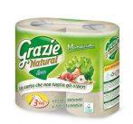 Grazie Natural öko toalett papír, WC papír, Maxi Lux, 4 tekercs, 3 rétegű