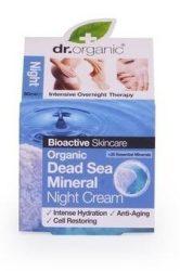 Dr. Organic Bio Holt-tengeri só, Éjszakai krém természetes Holt-tengeri ásványokkal 50 ml