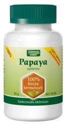 Zöldvér 100%-Os Papaya Tabletta 60 + 18 db