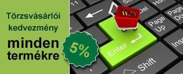 5%-os állandó törzsvásárlói kedvezmény