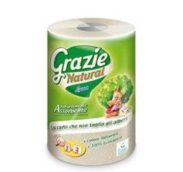 Grazie Natural öko háztartási papírtörlő, Ultra Maxi, 1 tekercs, 3 réteg, 150 lap