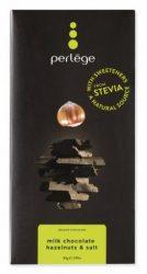 Perlége Belga Tejcsokoládé Steviával - Sózott mogyoróval 85 g -- NetbioHónap 2020.01.28-ig 10% kedvezménnyel