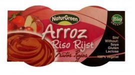 NaturGreen Bio rizspuding, vörös gyümölcsös 2*125 g