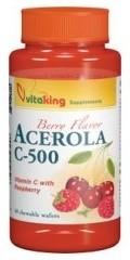 VitaKing C-vitamin, Acerola C-500 mg rágótabletta (VK1310) 40 db