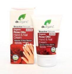 Dr. Organic Bio Rózsa kéz- és körömápoló krém 125 ml