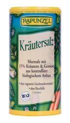 Rapunzel Bio fűszerek, tengeri só, zöldfűszersó szóródobozban 125 g