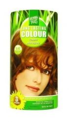HennaPlus női tartós hajfesték, vörös árnyalat, rézmahagóni (6.45) (Long Lasting Colour, Copper Mahagony)