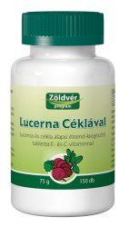 Zöldvér Lucerna-Cékla Tabletta 150 db