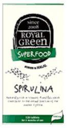 Royal Green Spirulina Tabletta 120 db