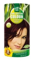 HennaPlus női tartós hajfesték, barna árnyalat, lilásbarna (4.67) (Long Lasting Colour, Red Violet Brown)