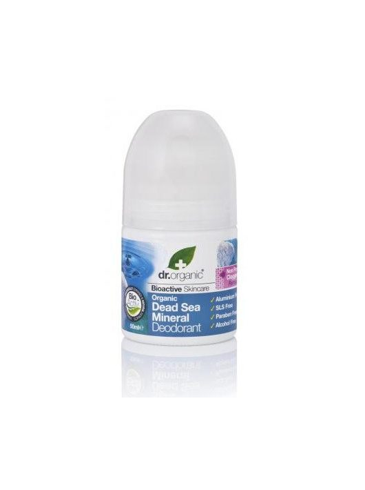 Dr. Organic Bio Holt-tengeri só, alumíniummentes golyós dezodor Holt-tengeri ásványokkal 50 ml -- NetbioHónap 2020.06.28-ig 18% kedvezménnyel