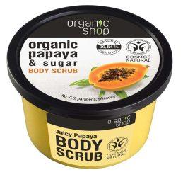 Organic Shop Bőrradír bio papayával és cukorral 250 ml