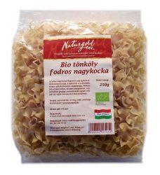 Naturgold Ökológiai tönköly tészta, fodros nagy kocka, fehér 250 g
