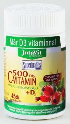 Jutavit C-Vitamin + D3 + Cink 500 mg tabletta 45 db