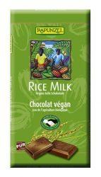 Rapunzel Bio csokoládé, Rizstejes csokoládé, vegán, 40%-os 100 g