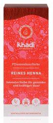 Khadi Növényi hajfesték por, Vörös, élénkvörös 100% henna 100 g