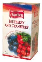 Apotheke Áfonya-Tőzegáfonya Tea 20x2g -- készlet erejéig, a termék lejárati ideje: 2020 májusa