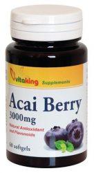 VitaKing Gyógynövények Acai Berry 3000 mg gélkapszula (VK 947) 60 db
