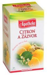 Apotheke Gyömbéres Citrom Tea 20x2g