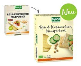 Byodo Bio csicseriborsó és rizs kenyérlapok 120 g
