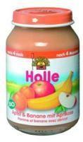 Holle Bio gyümölcsös bébiétel, alma-banán-sárgabarack bébiétel - gluténmentes 190 g -- készlet erejéig, a termék lejárati ideje: 2021 februárja