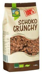 """Bohlsener Mühle Bio """"Műzli, """"Crunchy"""", 100% Bio étcsokoládés"""" 400 g"""