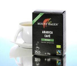 Mount Hagen Bio Kávé, instant, Stick, Arabica, koffeinmentes 25x2 g