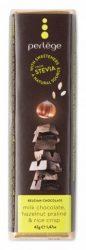 Perlége Belga Étcsokoládé Steviával - Mogyoró pralinéval és rizzsel 42 g