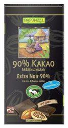 Rapunzel Bio csokoládé, Keserűcsokoládé 90%-os kókuszvirágcukorral 80 g