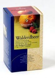 Sonnentor adagoló dobozos Bio teák, erdei szamóca gyümölcstea 18 filter