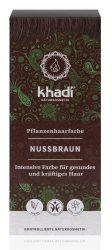 Khadi Növényi hajfesték por, barna, természetes mogyoróbarna 100 g