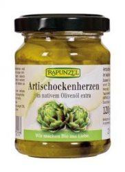 Rapunzel Bio előételek, articsókaszív olivaolajban 120 g