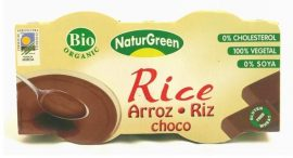 NaturGreen Bio rizspuding, csokoládés 2*125 g