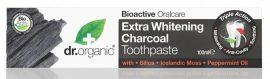 Dr. Organic Bio Extra fehérítő fogkrém aktív szénnel 100 ml