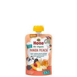 Holle Bio Panda Peach Gyümölcspüré - Tasak őszibarack, sárgabarack, banán, tönkölybúza 90 g