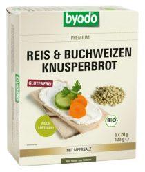 Byodo Bio Kenyérlapok, hajdina és rizs, natúr 120 g